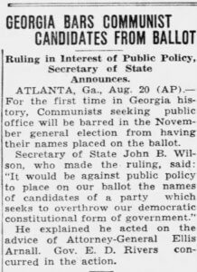 Georgia ballot access history